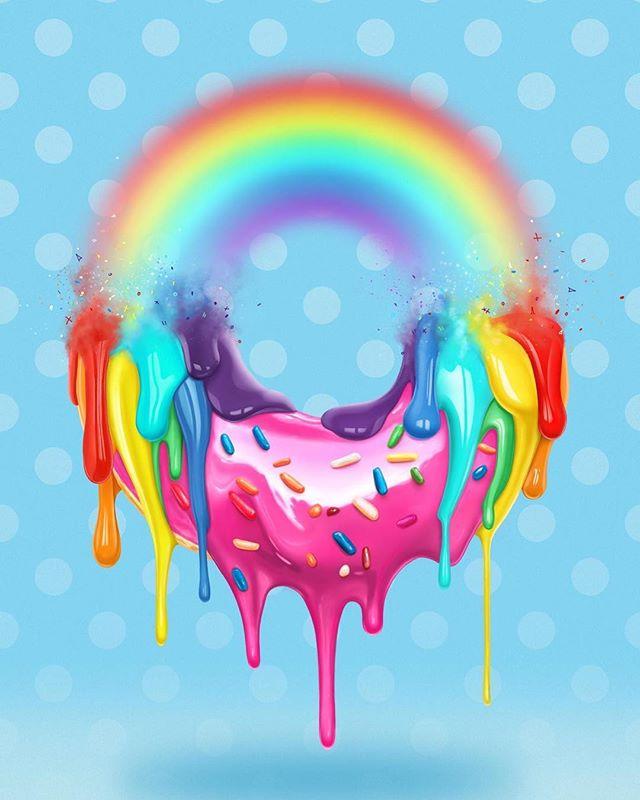 'Sweet Dreams' - Excess and gluttony. The shiny face of consumerism⠀ .⠀ .⠀ .⠀ .⠀ .⠀ #art #kunst #アート #color #contemporaryart #creative #Cintiq #digitalpainting #digitalart #digitalartist #fineart #foodart #Graphic #wallart #instaart #MadewithWacom #MrGo #PopArt #photoshop #donut #doughnuts #rainbow #glossy #sweets #GalleryOfNow #beautifulbizarre #happyfriday #FridayNight #tgif #krispykreme
