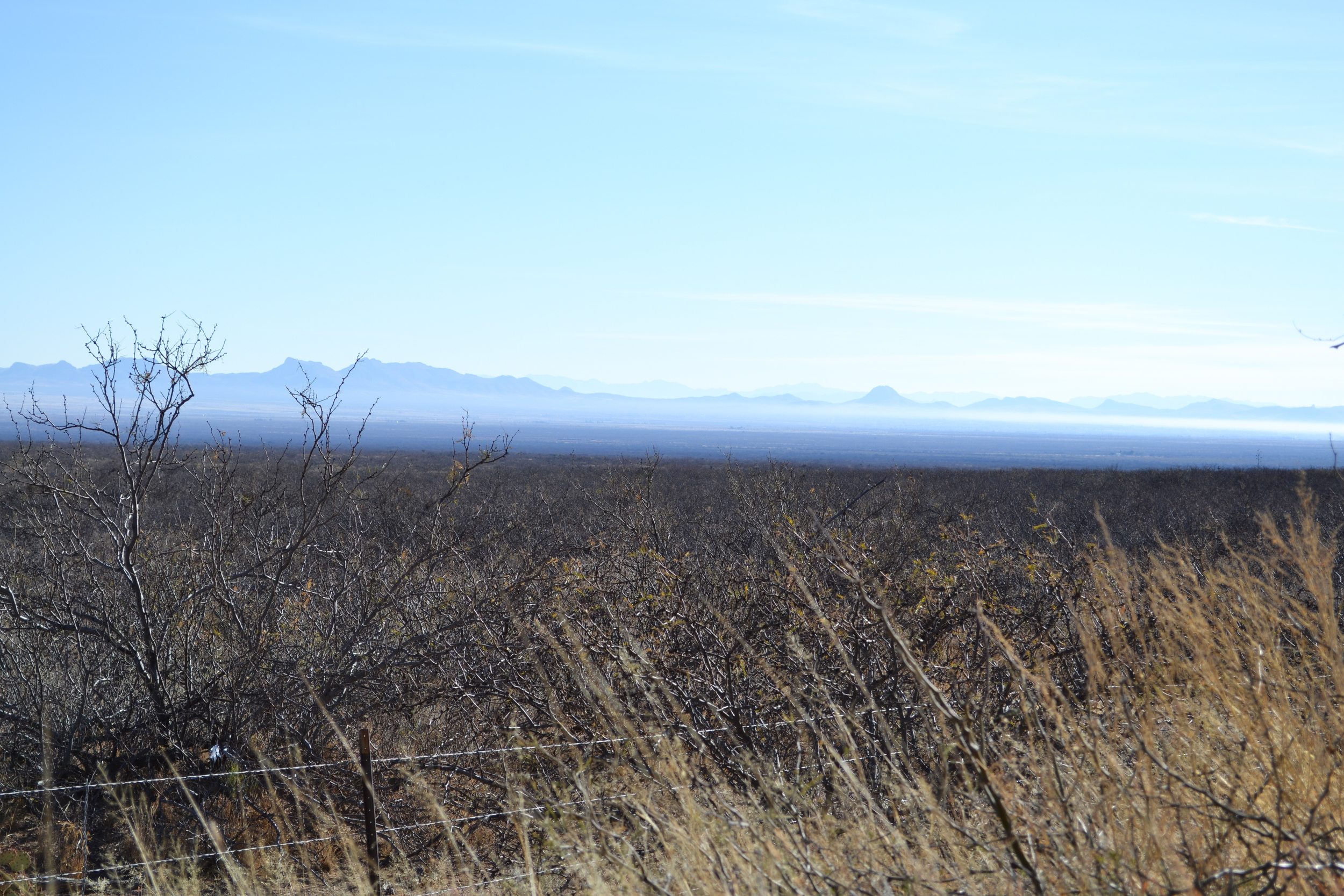 Morning haze near Bisbee, Arizona, on Jan. 4, 2011.