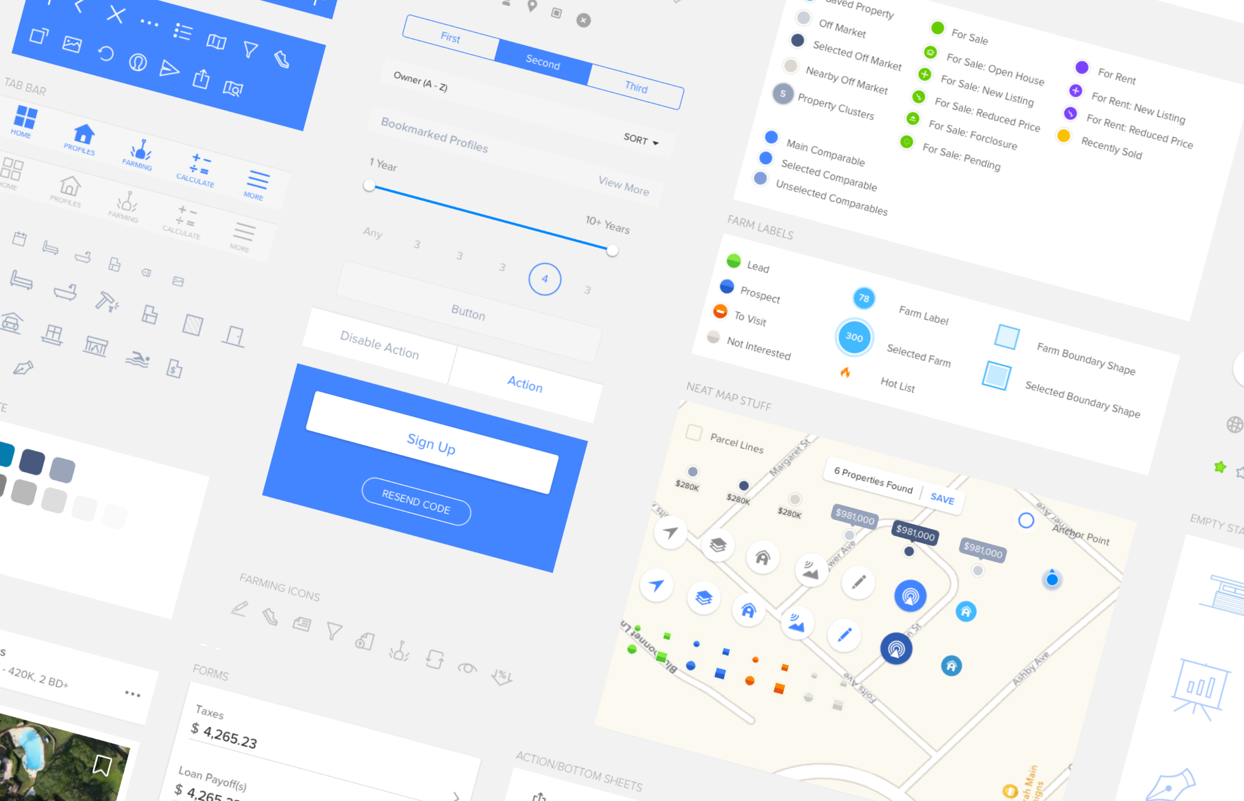 UI Kit - I started building a UI Kit to set a design look and feel for the app which then evolved to style consistency between the team. We leveraged Sketch symbols and Craft Library plugin to keep icons and commonly used patterns up to date. When all out fails we refer to the UI Kit document to pull GUI patterns.