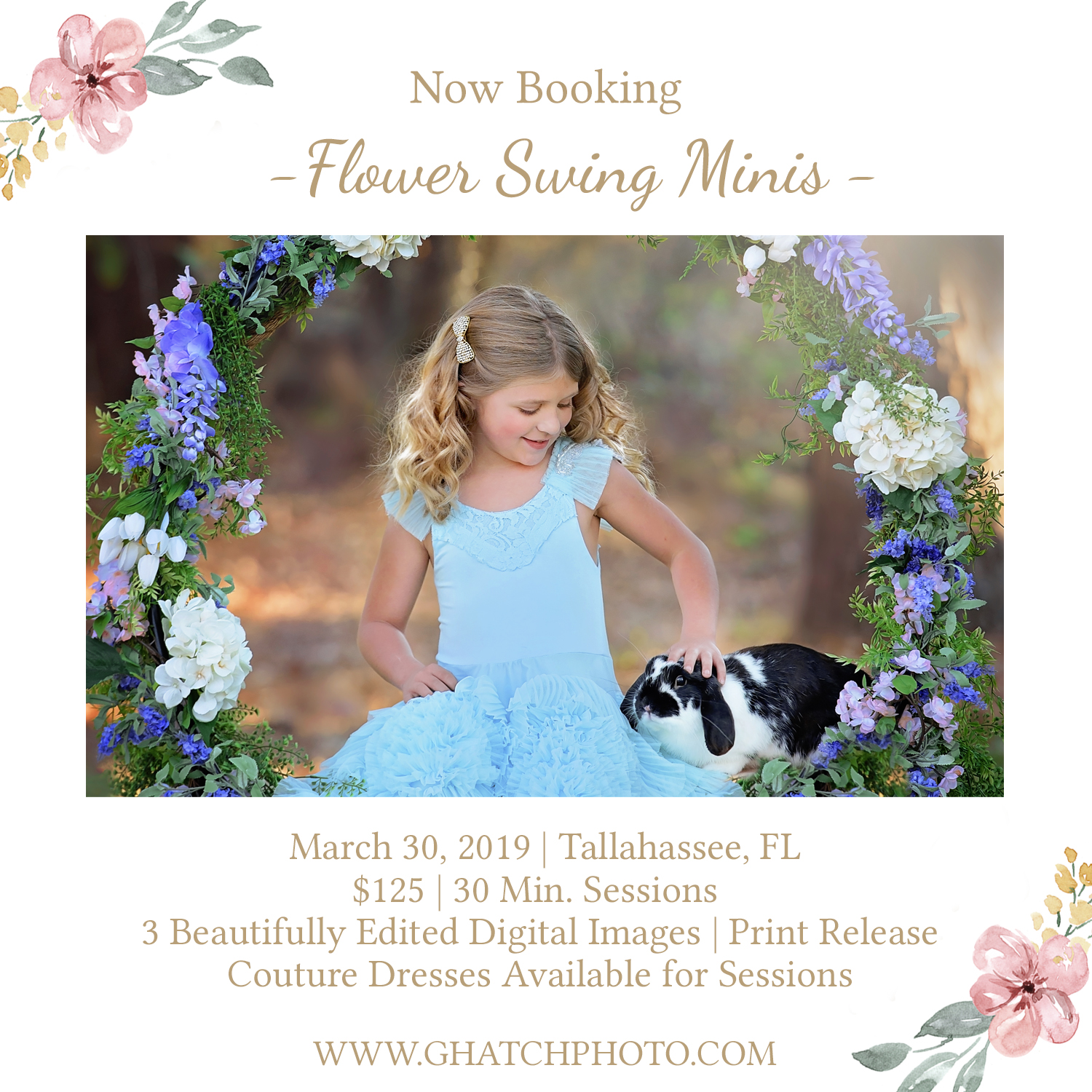 Tallahassee Flower Swing Minis! - Spring is right around the corner! Last year we sold out for these. CLICK HERE TO SAVE YOUR SPOT! SOLD OUT