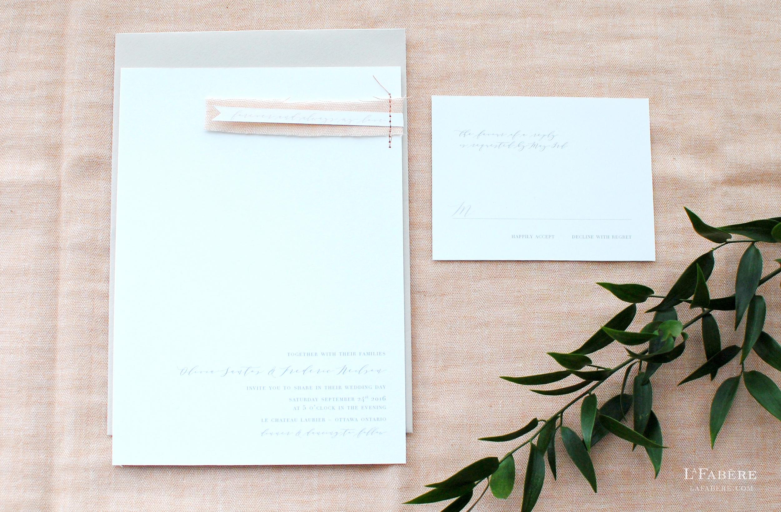 Ottawa wedding invitation designer LaFabère. lafabere.com