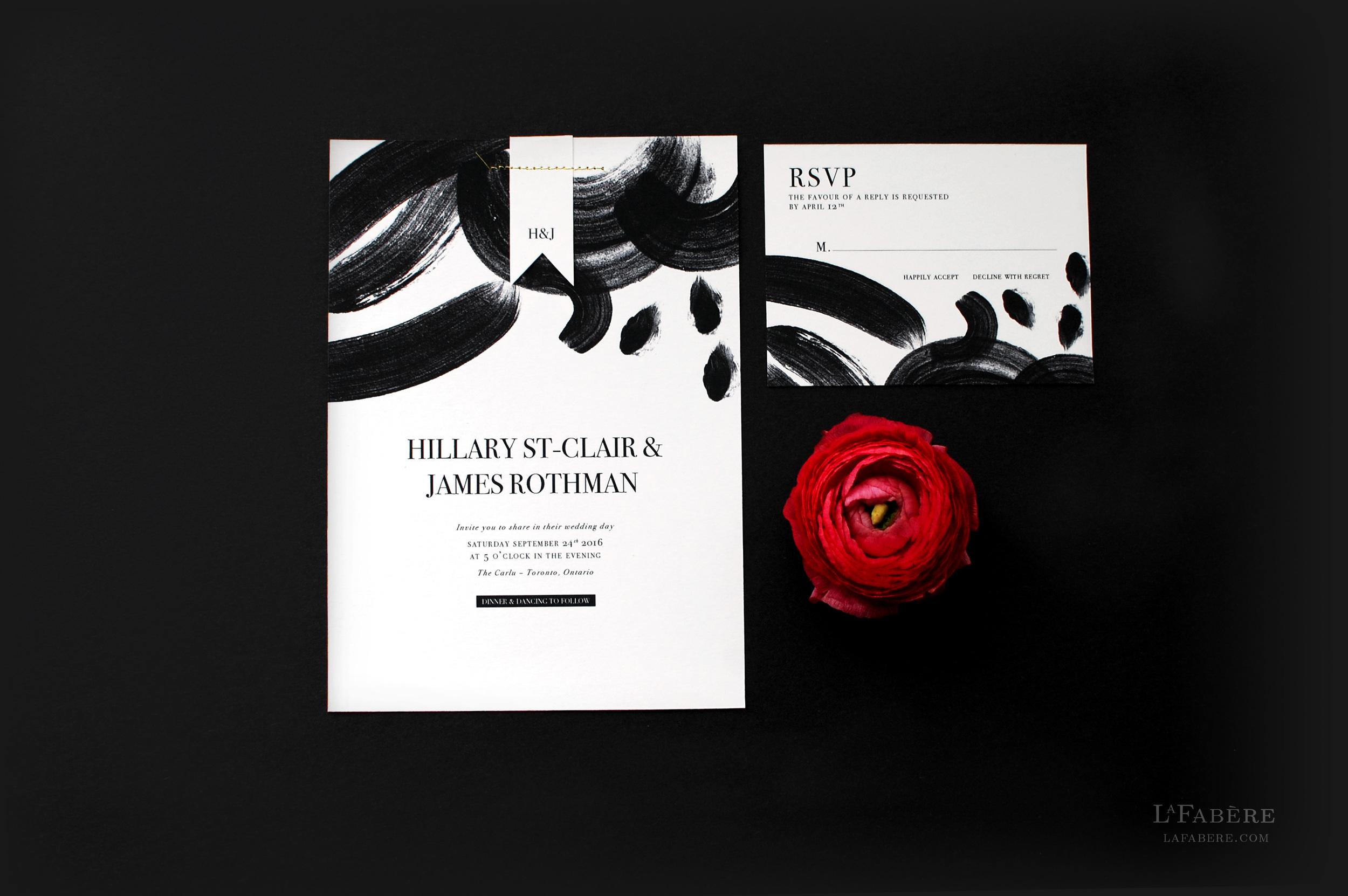 Artsy & Chic wedding invitation design by LaFabère. lafabere.com