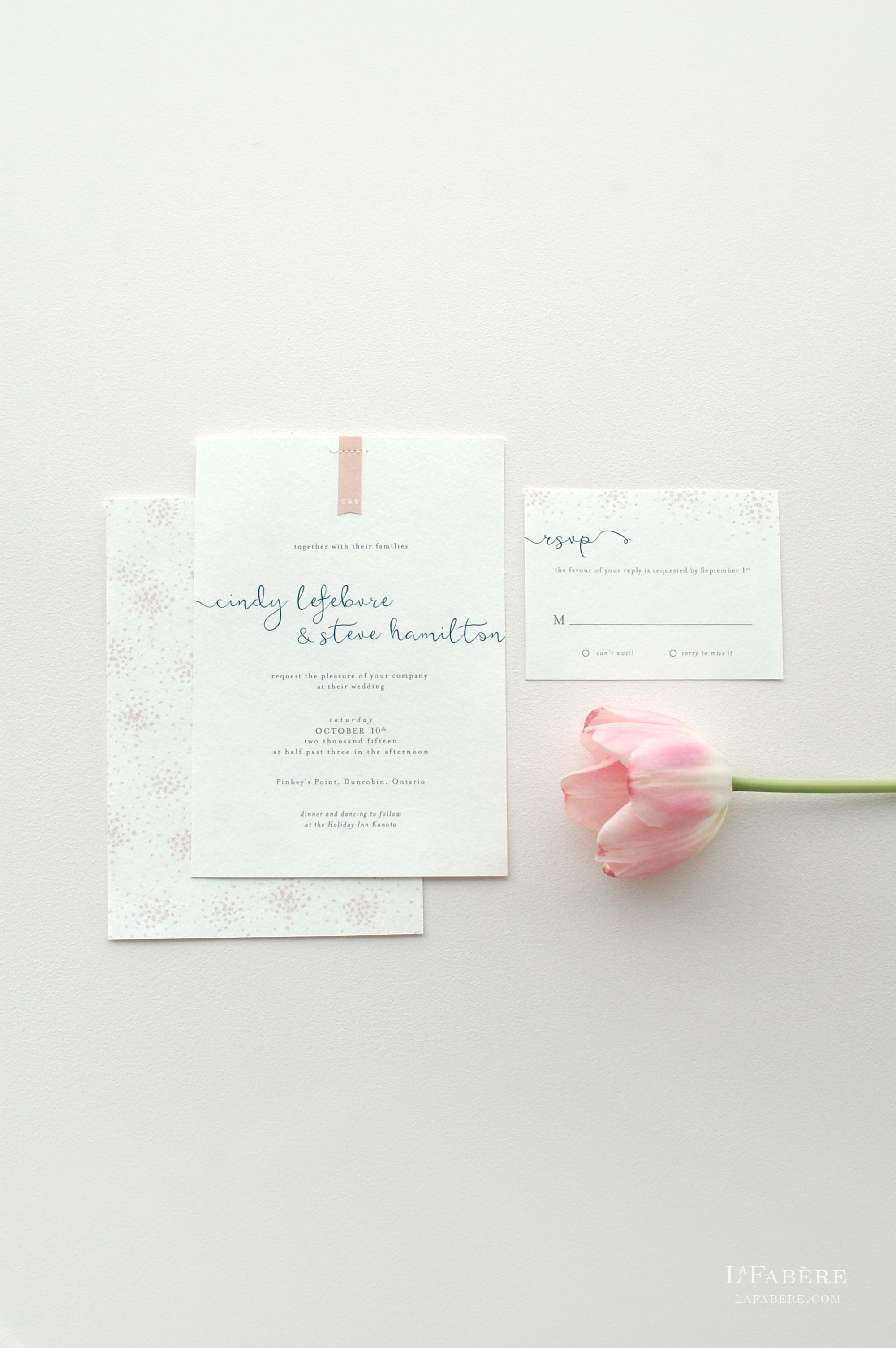 Delicate & Whimsical wedding invitation design by LaFabère. lafabere.com