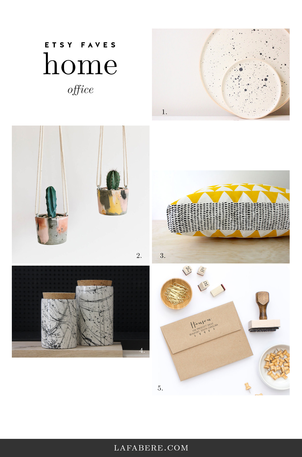 LaFabere.com/blog Etsy Faves ? Sprin gHome Office
