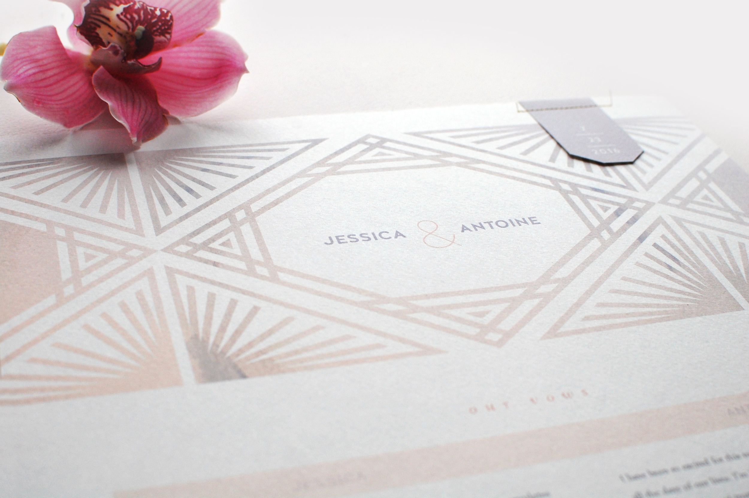 Wedding Vow Prints and Luxury Invitations by LaFabere.com