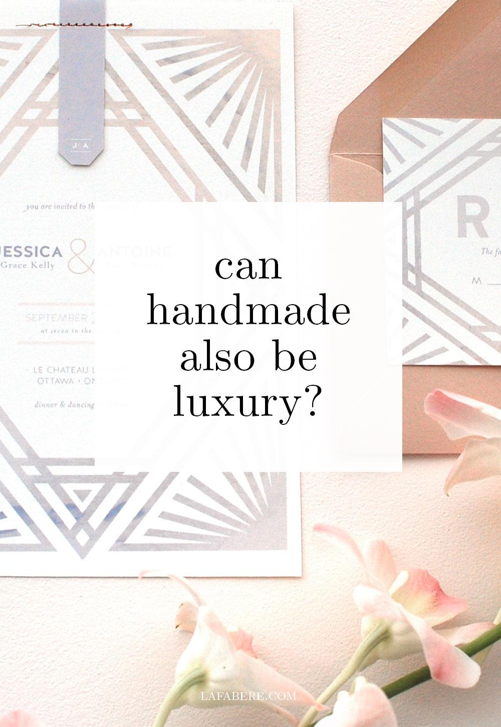 LaFabere talks handmade and luxury wedding invitations