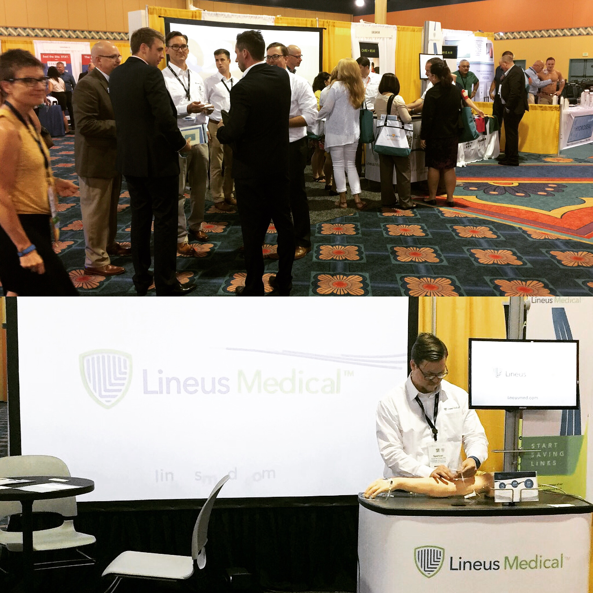 Lineus Medical AVA booth