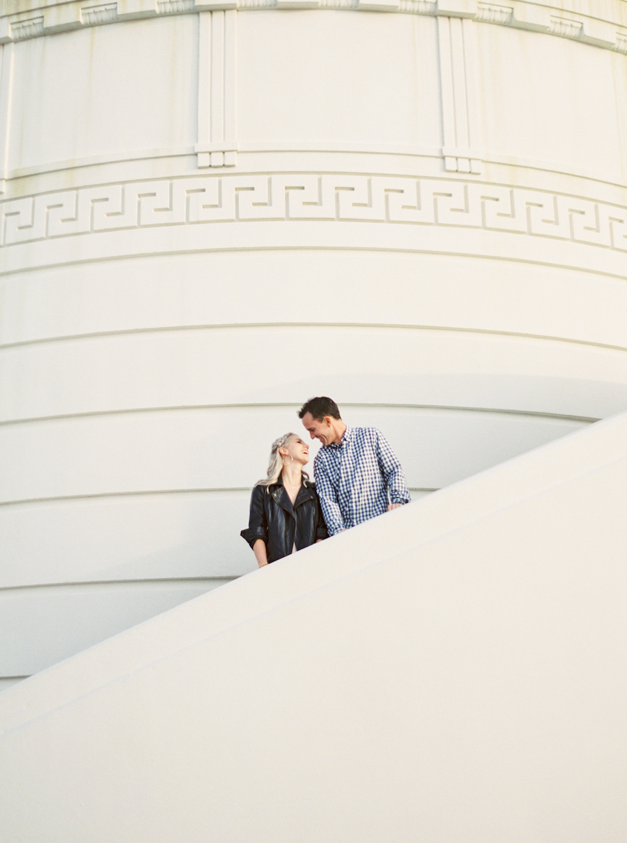 Griffith Observatory Engagement Session - Jessica Scott Photography