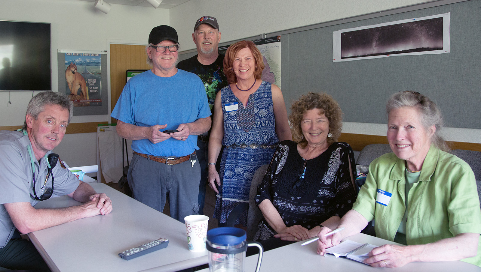 Governance Committee members from left: John White, Jack Zeman, John Barnes, Nancy Starling Ross, Tyra Barnes (Co-Chair), Erin Smith (Chairperson).