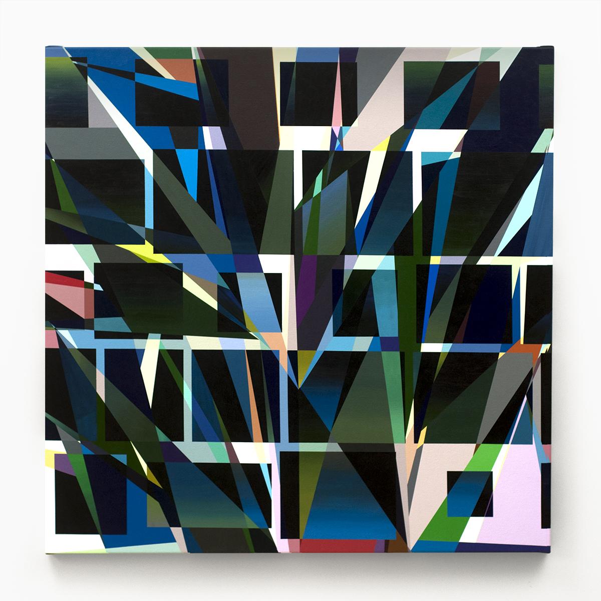 """QIS  , 2012  Acrylic on canvas  42 x 42"""" (107 x 107 cm)"""