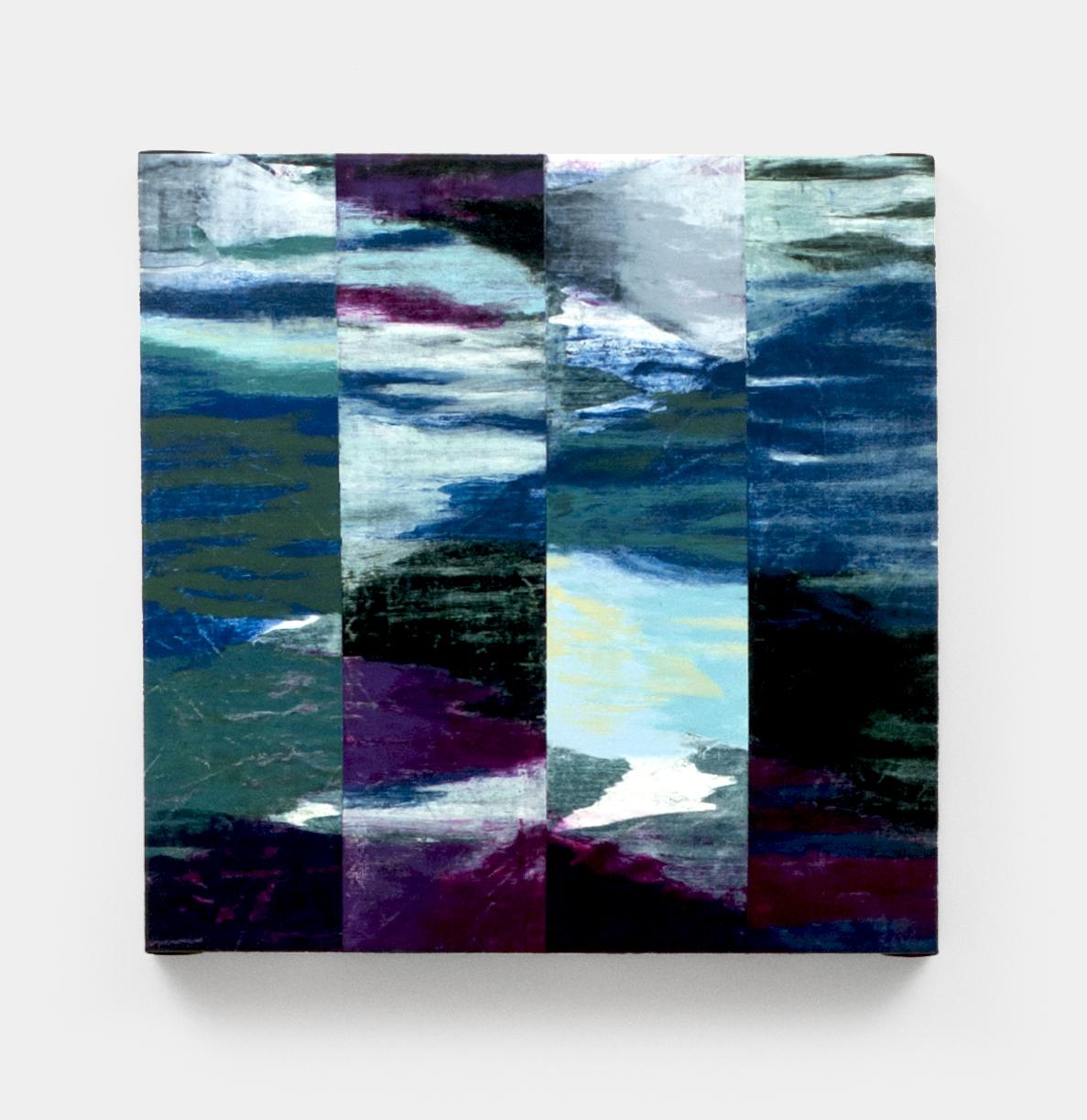 """JUT  , 2013  Acrylic on canvas  16 x 16"""" (41 x 41 cm)"""