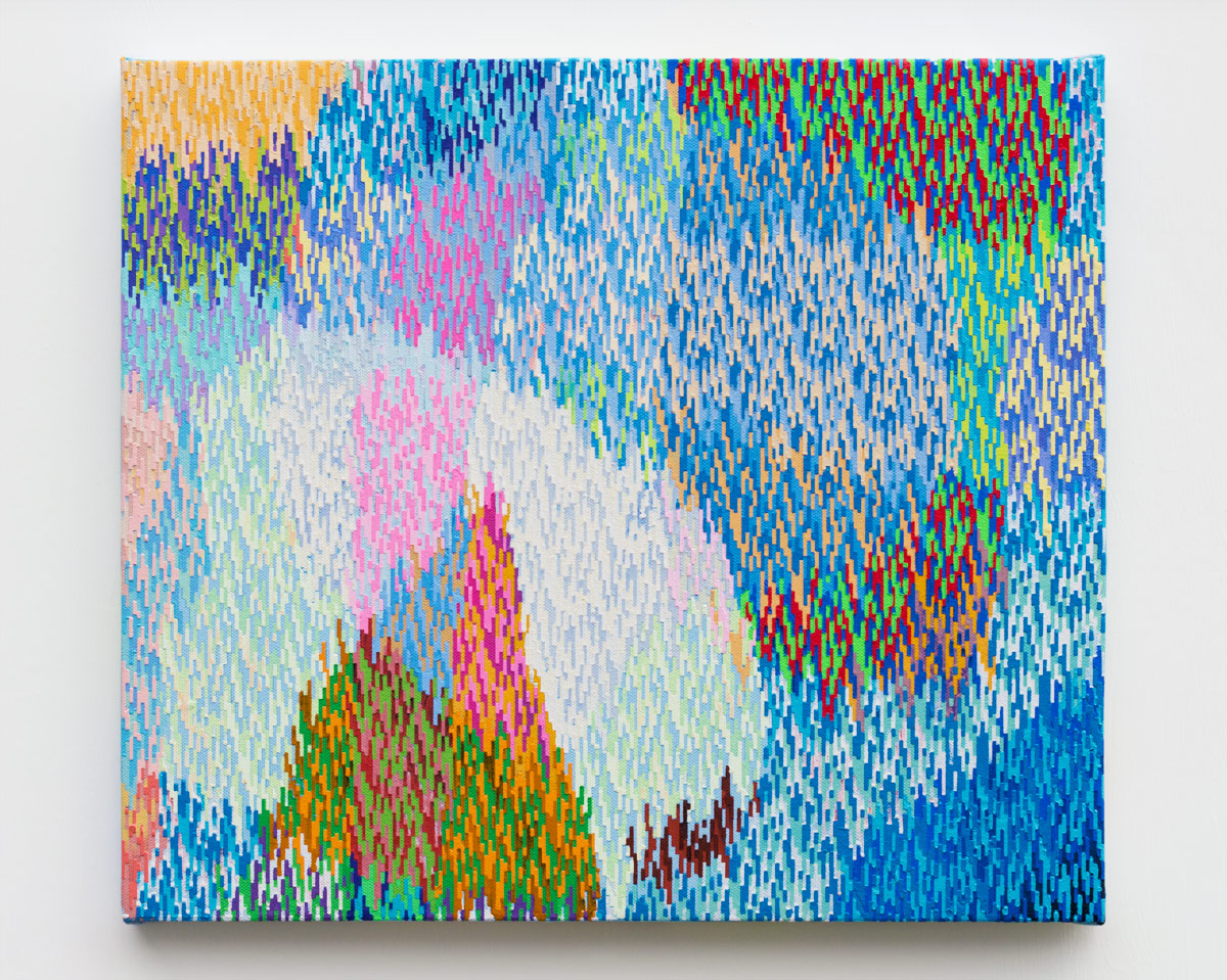 "The Heights  , 2018  Acrylic on canvas  14 x 16"" (36 x 41 cm)"