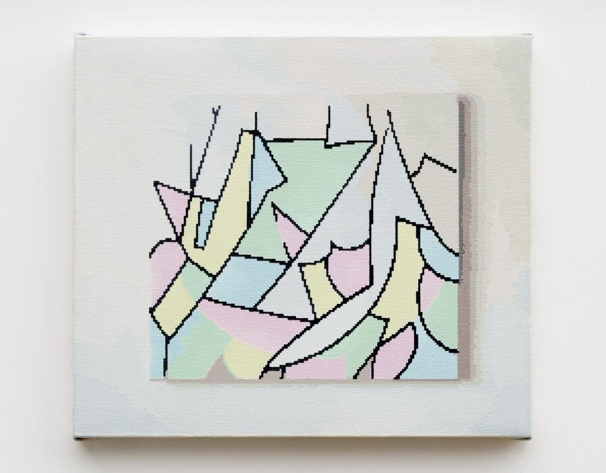 """TNU930  , 2017  Acrylic on canvas  10.5 x 12"""" (27 x 30 cm)"""