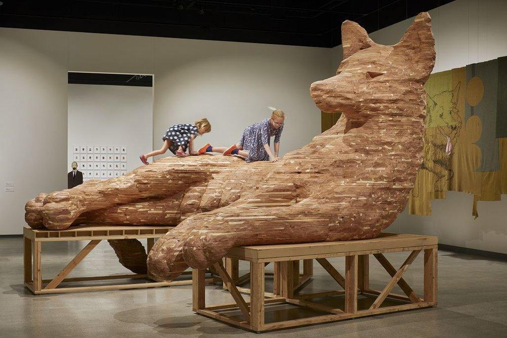 "Marie Watt 's ""Companion Species: Underbelly""  travelling exhibition"