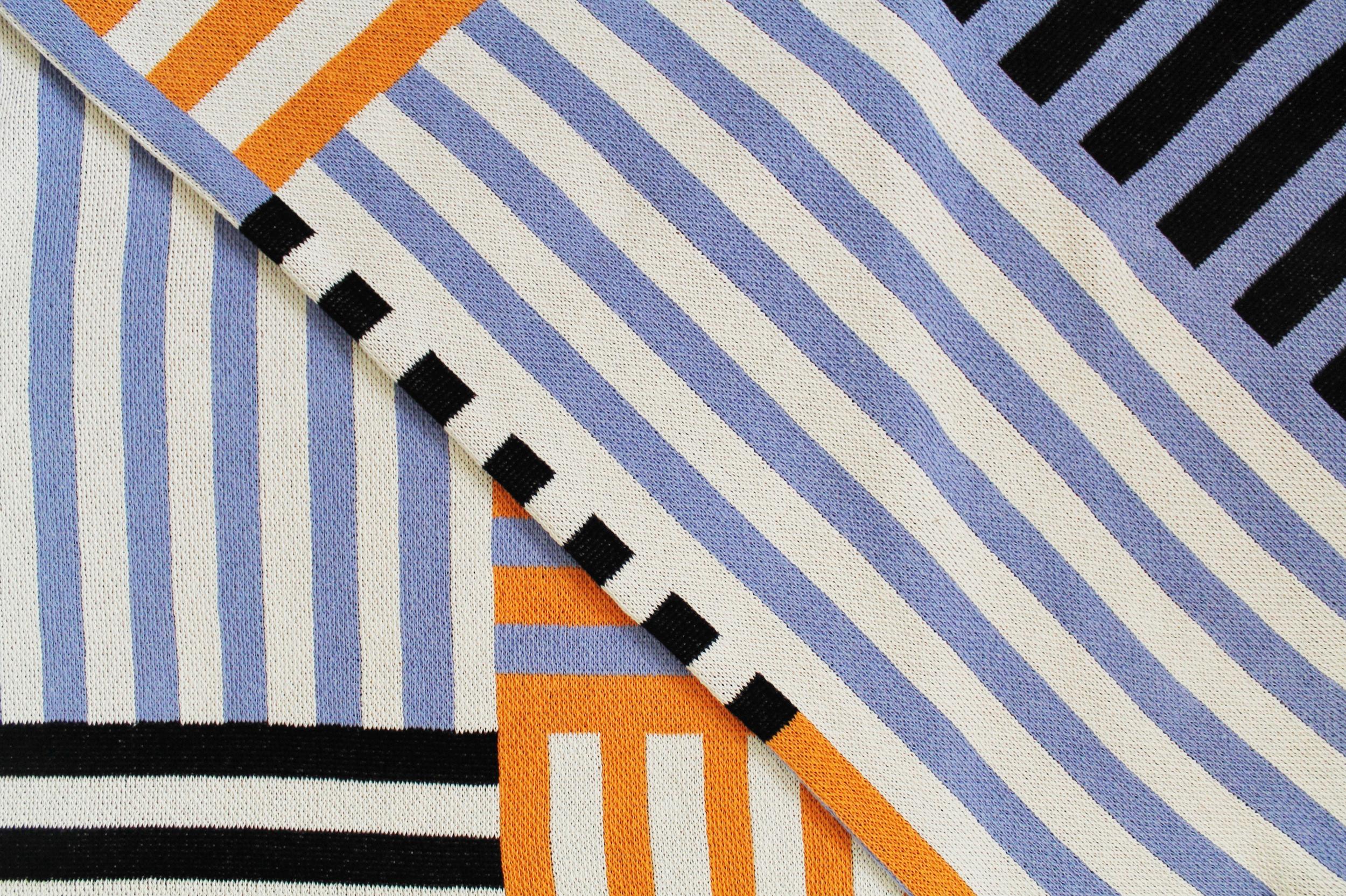 Ampersand Black Stripe - Lilac and Flame.jpg