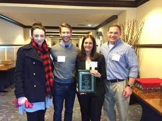 Dr. Owen with the JMLP Georgetown research team. L-R: Jilanne Doom, Isaac Riddle, Diana Owen, Scott Schroeder.