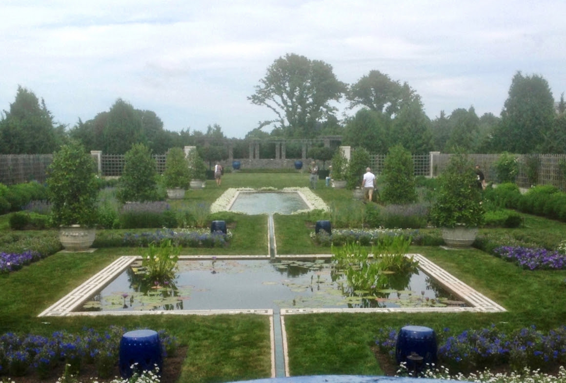 The rill links all areas of the Blue Garden