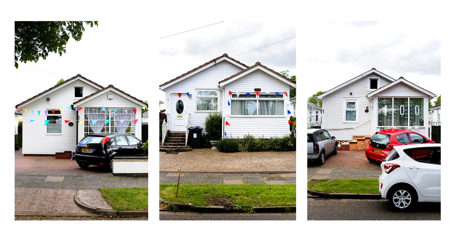 Austin Village homes during centenary celebrations May 2017. Photograph by Stephen Burke.