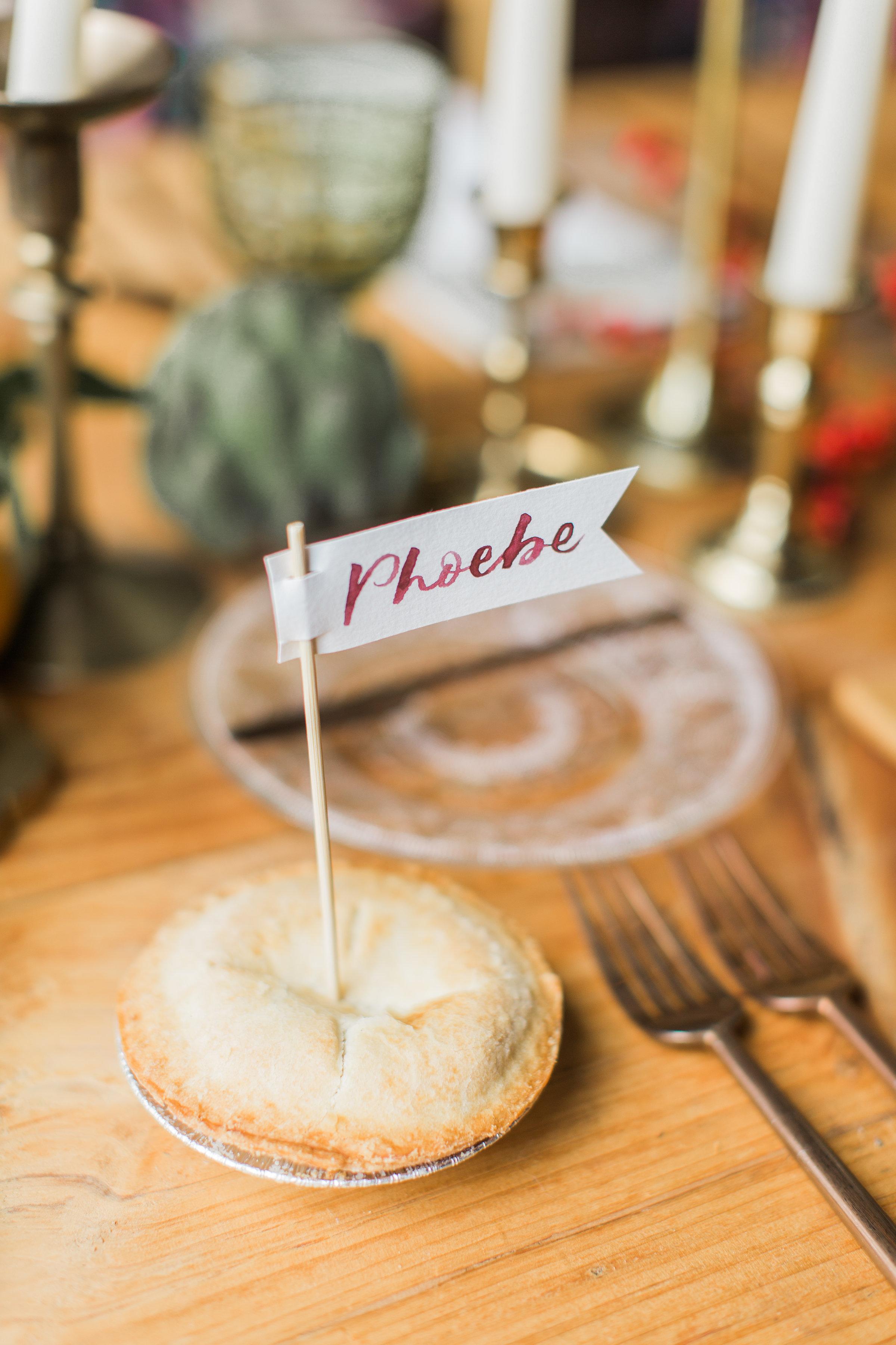 Pie Place Cards | Kate Murtaugh Events & Design