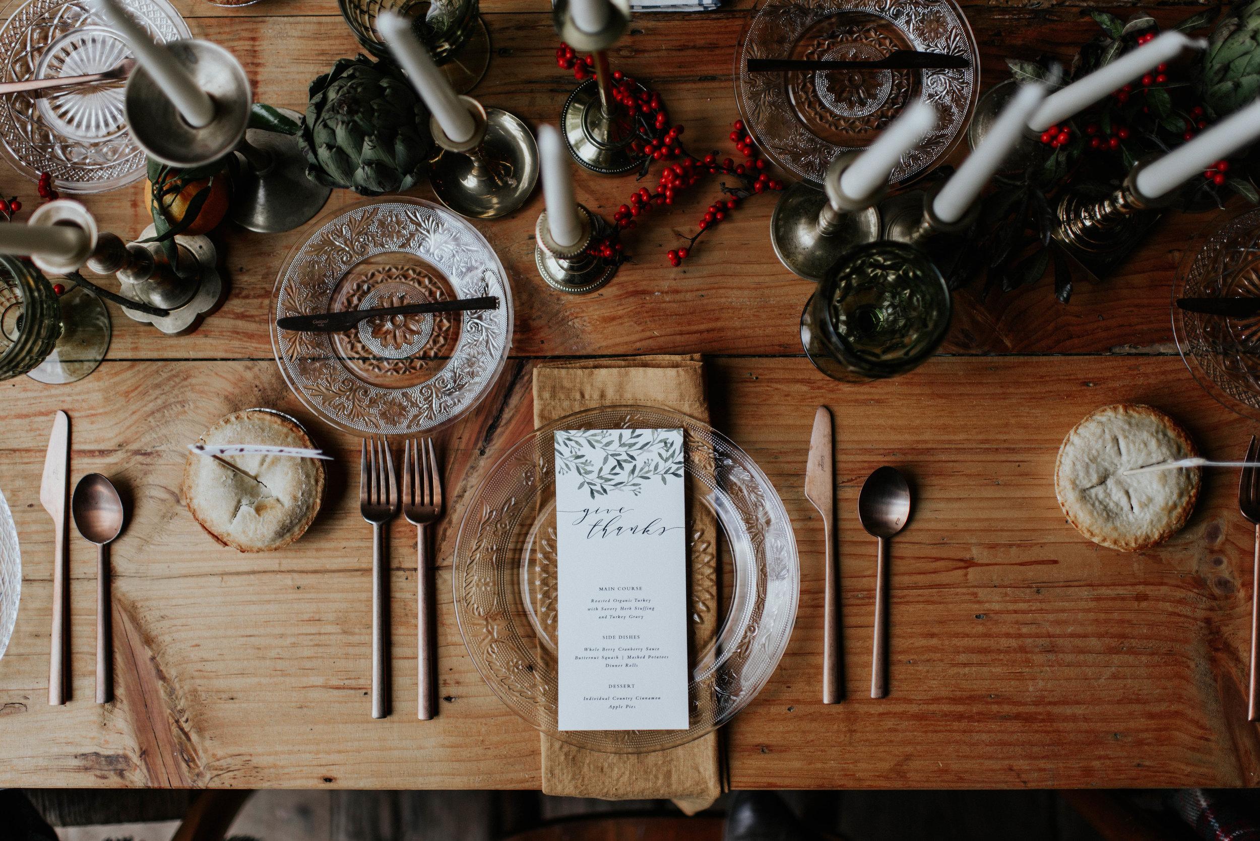 Thanksgiving Table Setting | Kate Murtaugh Events & Design
