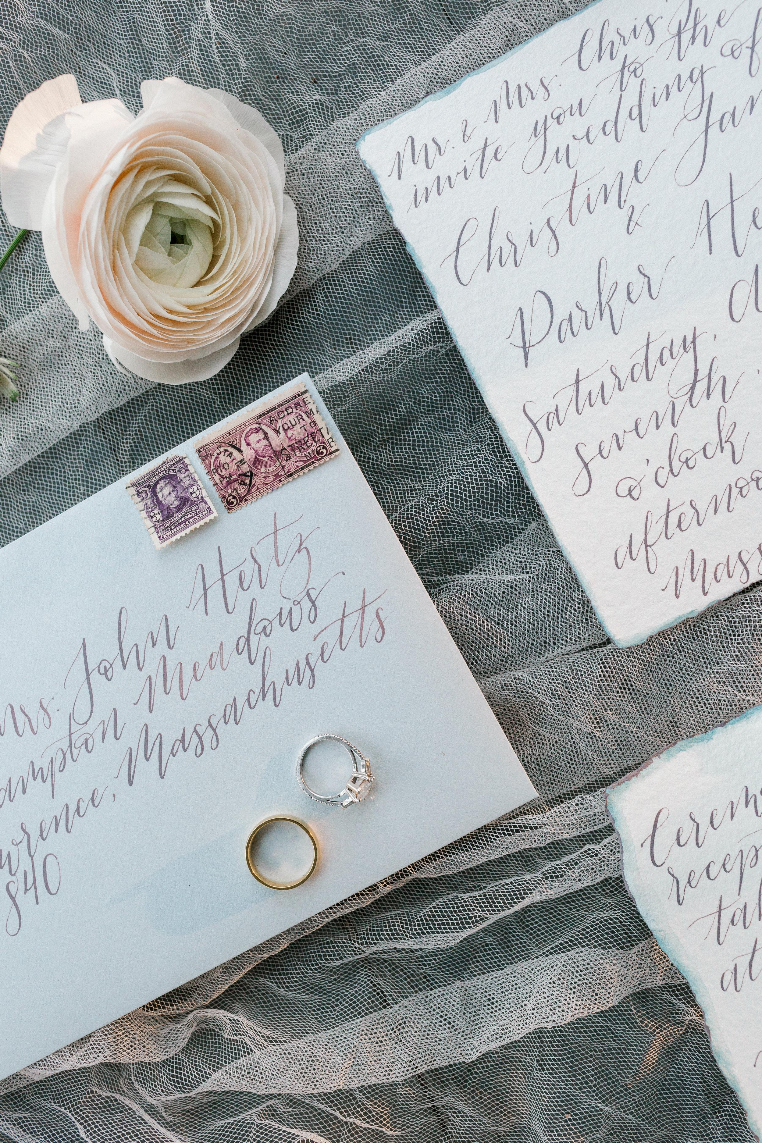 blush wedding invtation