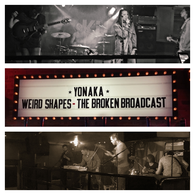 Yonaka ,  Weird Shapes  and  The Broken Broadcast  gave impressive performances at Ku Bar on Friday, the 10th of June 2016