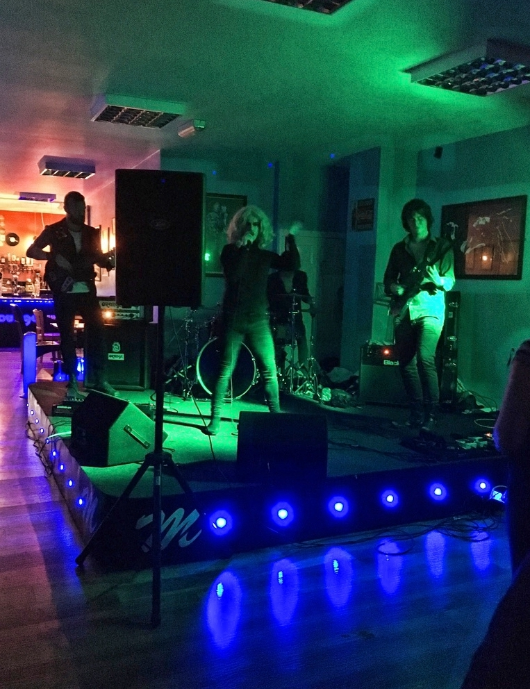 Velvoir - the last act performing on 9 July 2016 at the Musiclounge