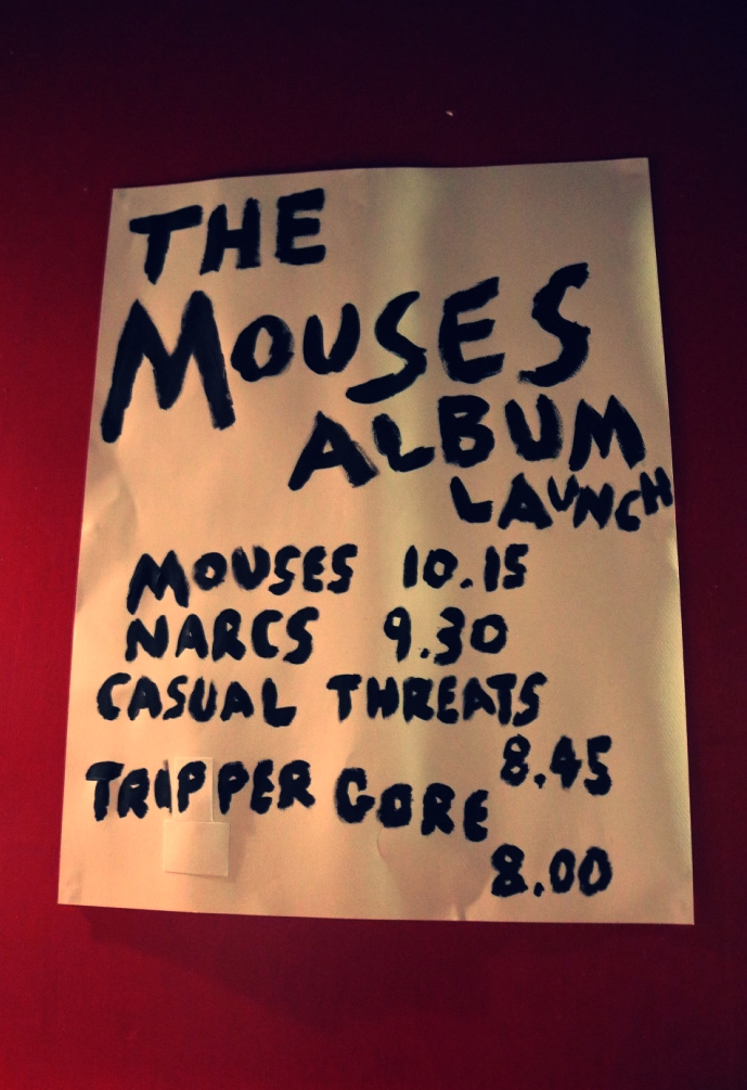 Line-up for Mouses's first album launch on 23 September 2016 at The Georgian Theatre