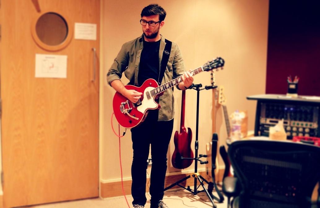 Joe waiting to record at Blast Recording Studio