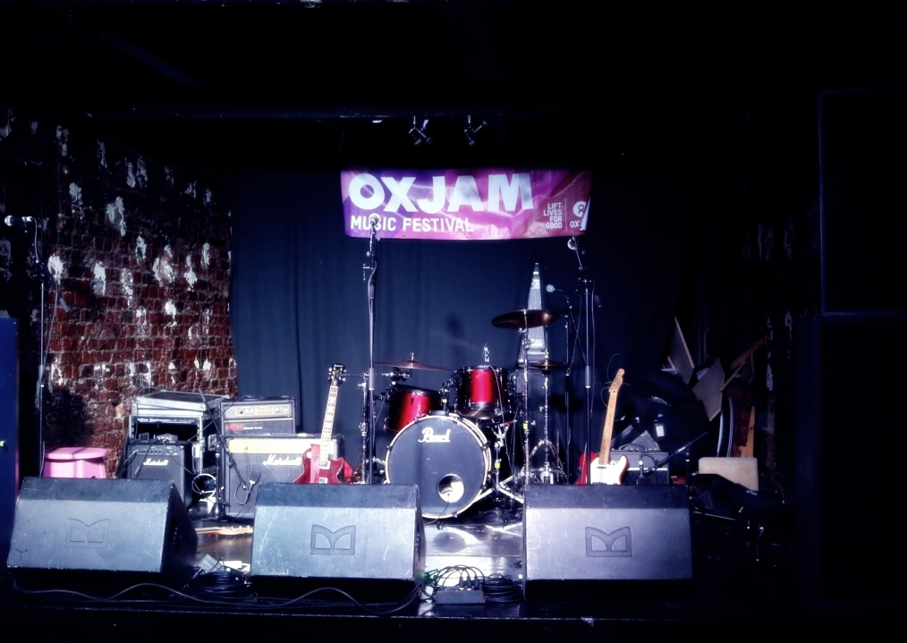 Seen stage at the Oxjam Darlo Takeover 2016