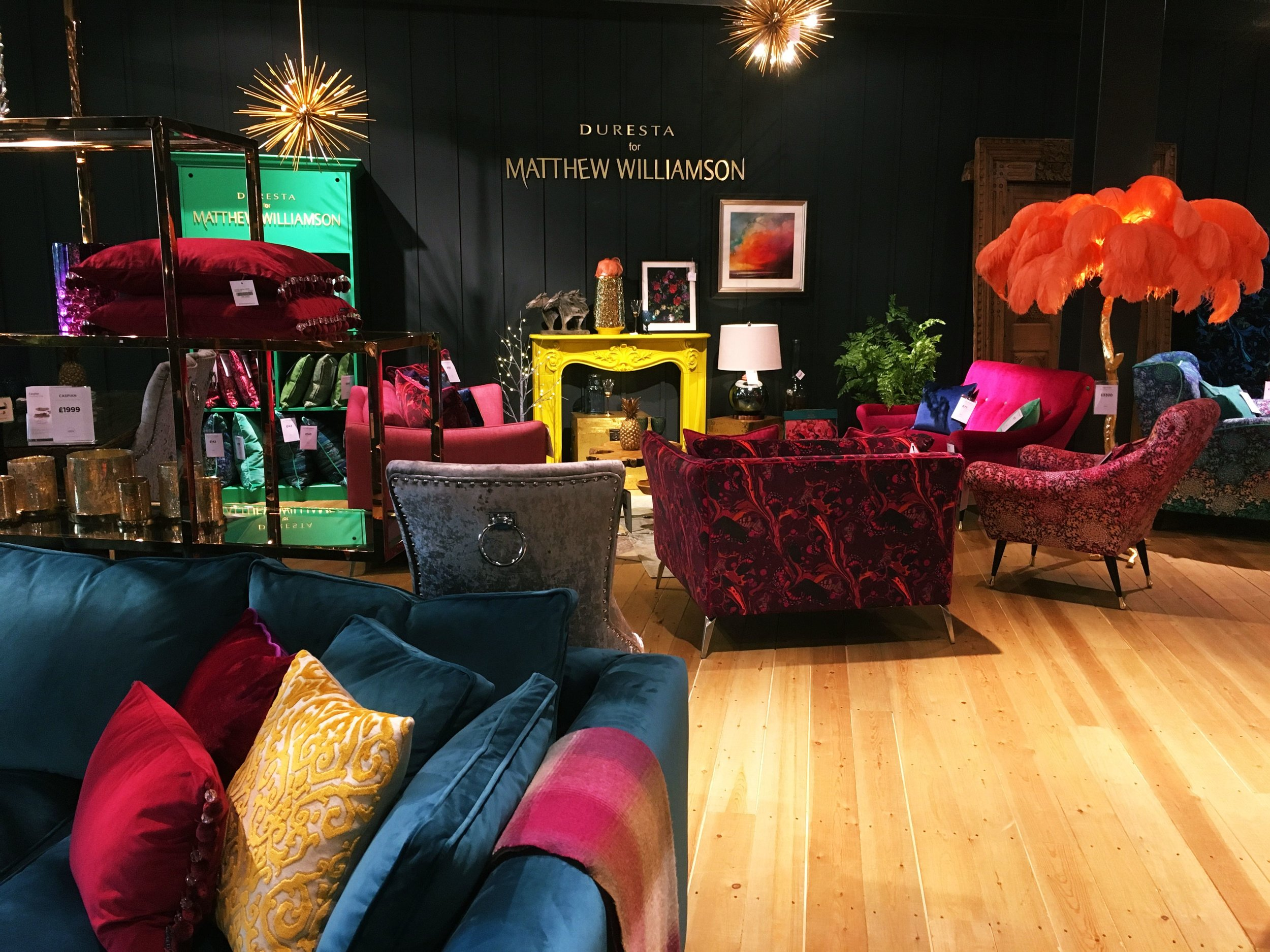 The place of inspiration: a Matthew Williamson lounge design at Barker and Stonehouse