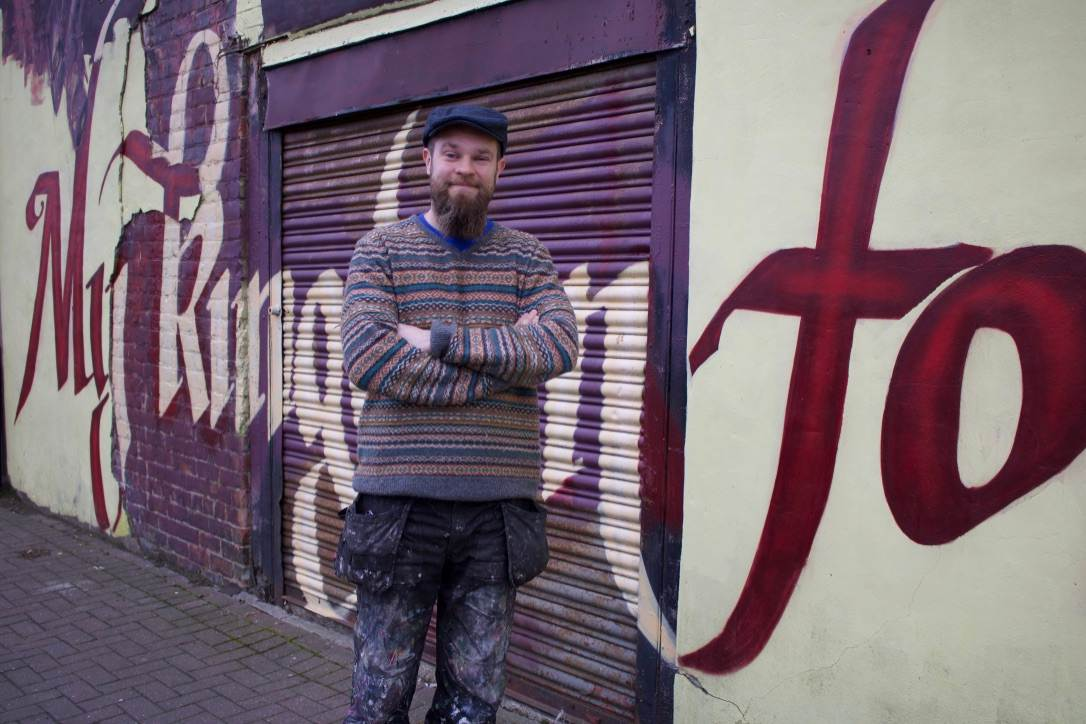 The man behind the Grafter Gables murals: Frank Styles