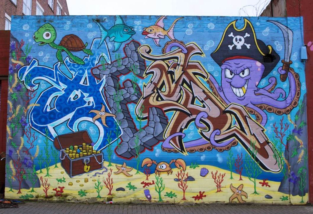 Sunderland: One of many other murals in the area