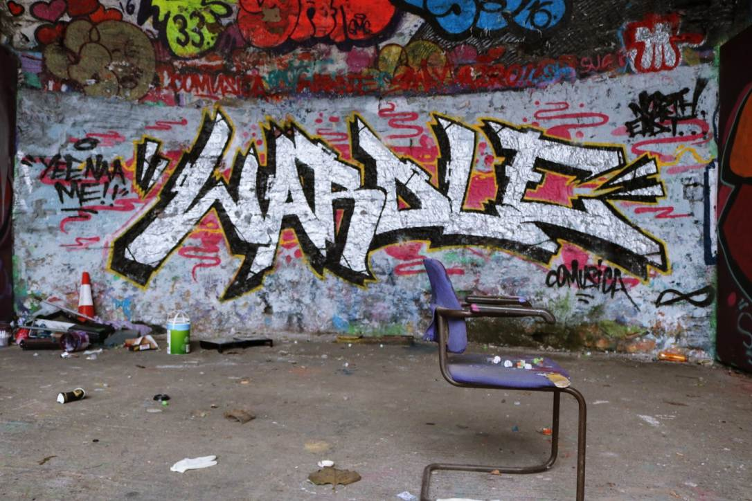 Gateshead: Practice space for street and graffiti artists at the CoMusica Arches