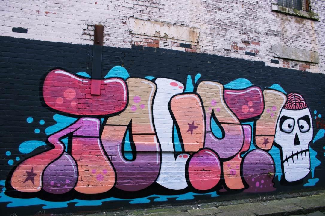 Sunderland: TOUPE's simple yet appealing graffiti art