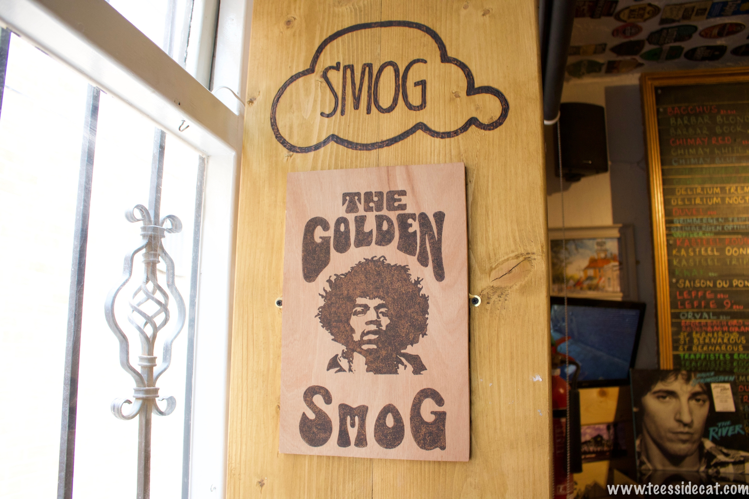 The Golden Smog banner finds itself in the strangest places
