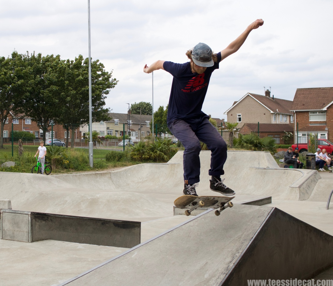 During the skateboarding challenge at the 'Tryin' to Jam' event