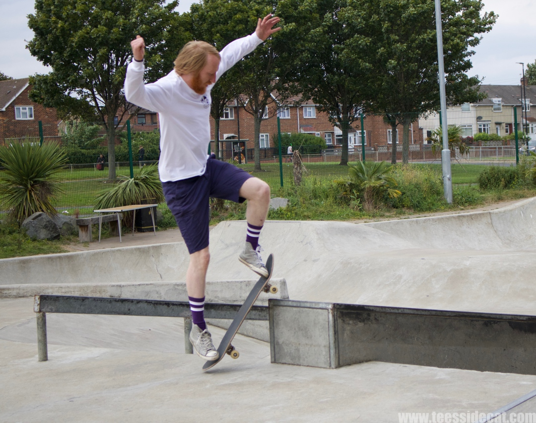 Andrew Pike during the skating challenge at 'Tryin' to Jam