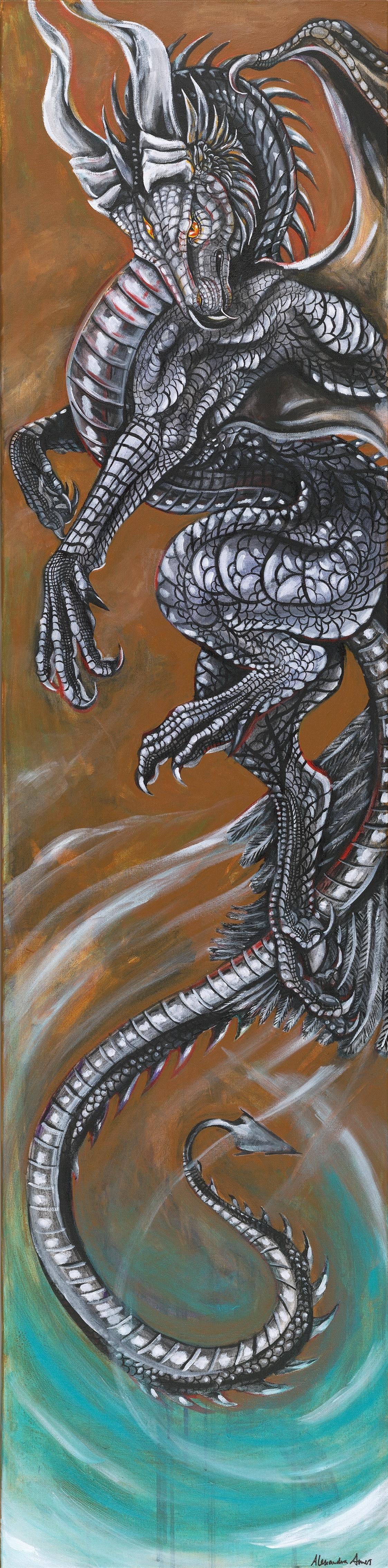 Dragon,acrylic on canvas