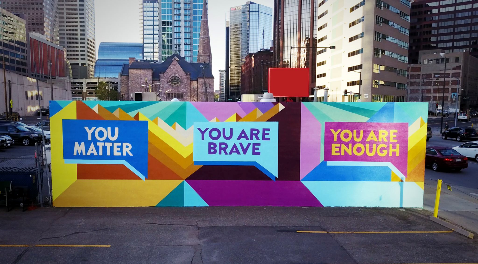Denver Mural Promotes Mental Health; lead artists Pat Milbery and Jason Grave