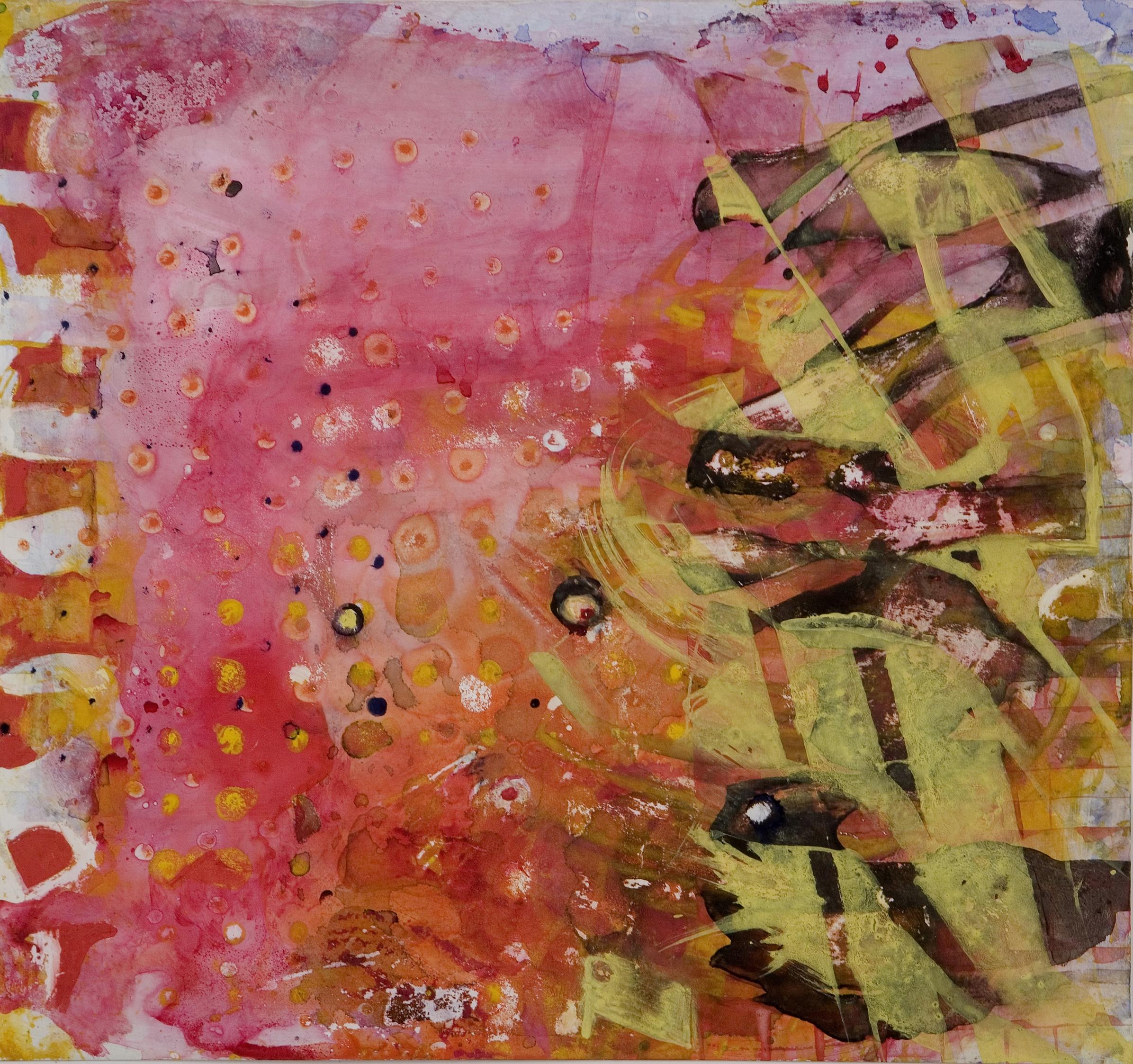 "Sanskriti Series #1, watercolor and casein, 12"" x 13"", 2006"