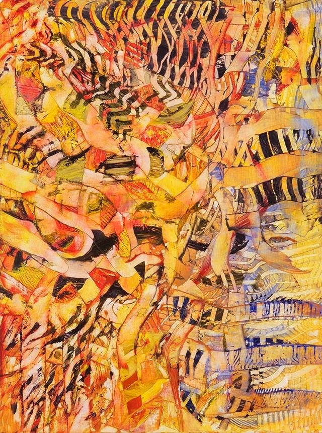 "Thrum, oil on wood, 24"" x 18"", 2003"