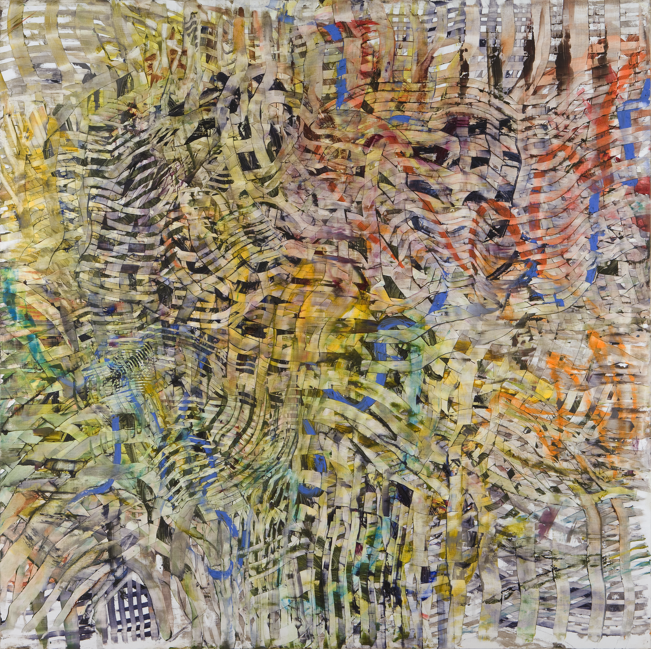 "The Web Is Woven, oil on wood, 54"" x 54"", 2003"