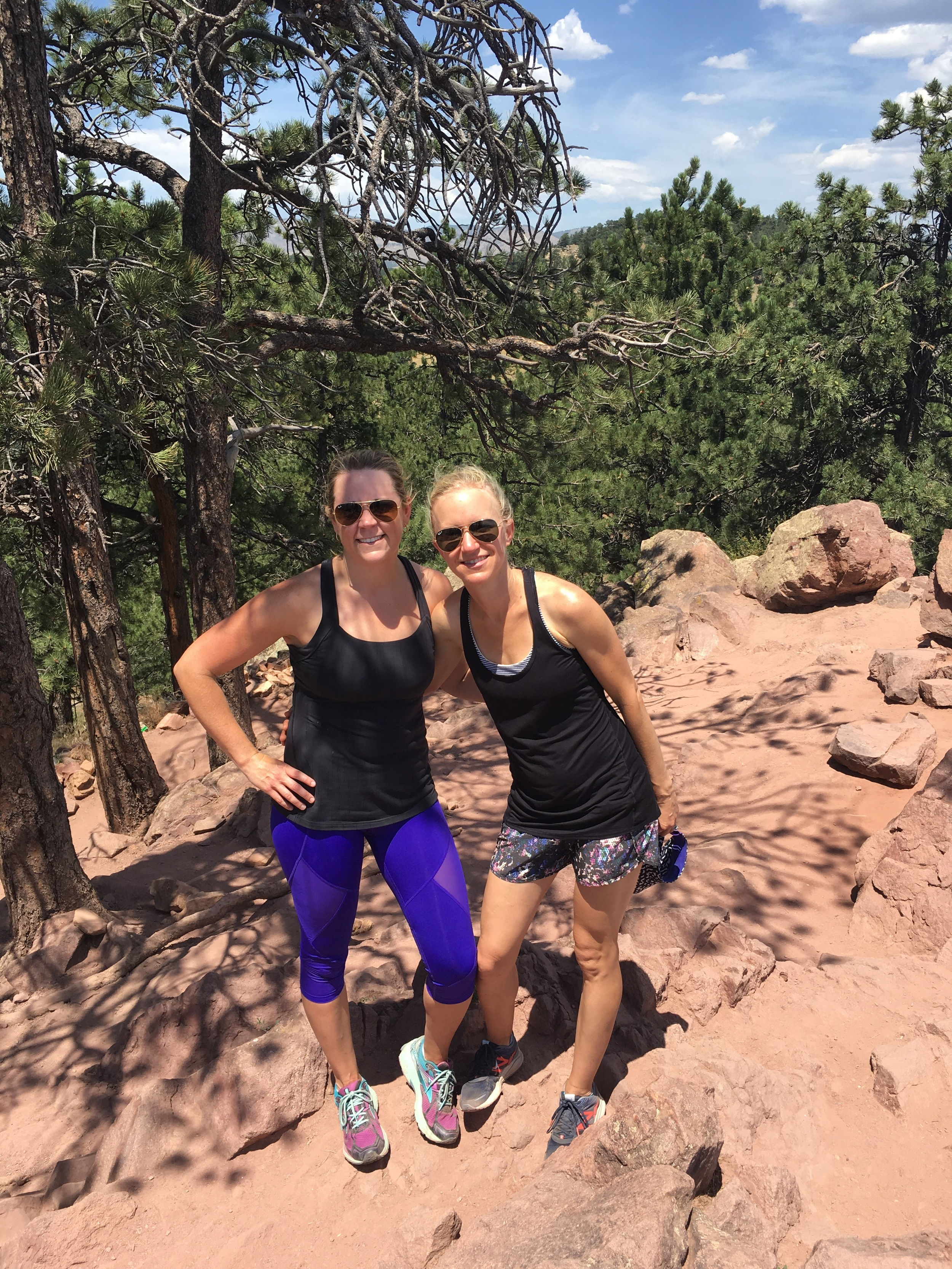 Jen and her friend going hiking!