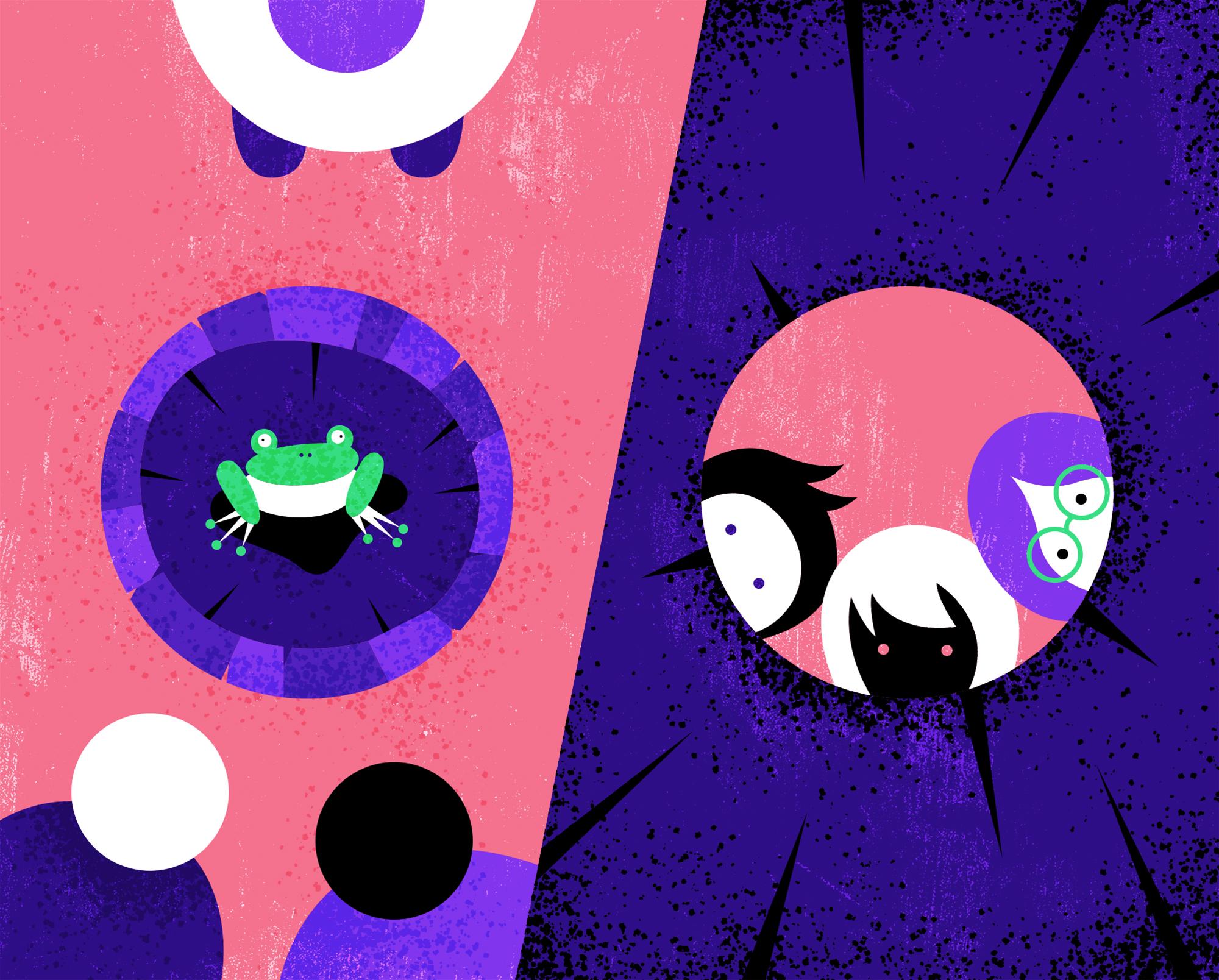 """井底之蛙 n. - """"Being a frog at the bottom of a well."""" - A person a with narrow view.e.g. Instead of being a 井底之蛙, we should broaden our horizons."""