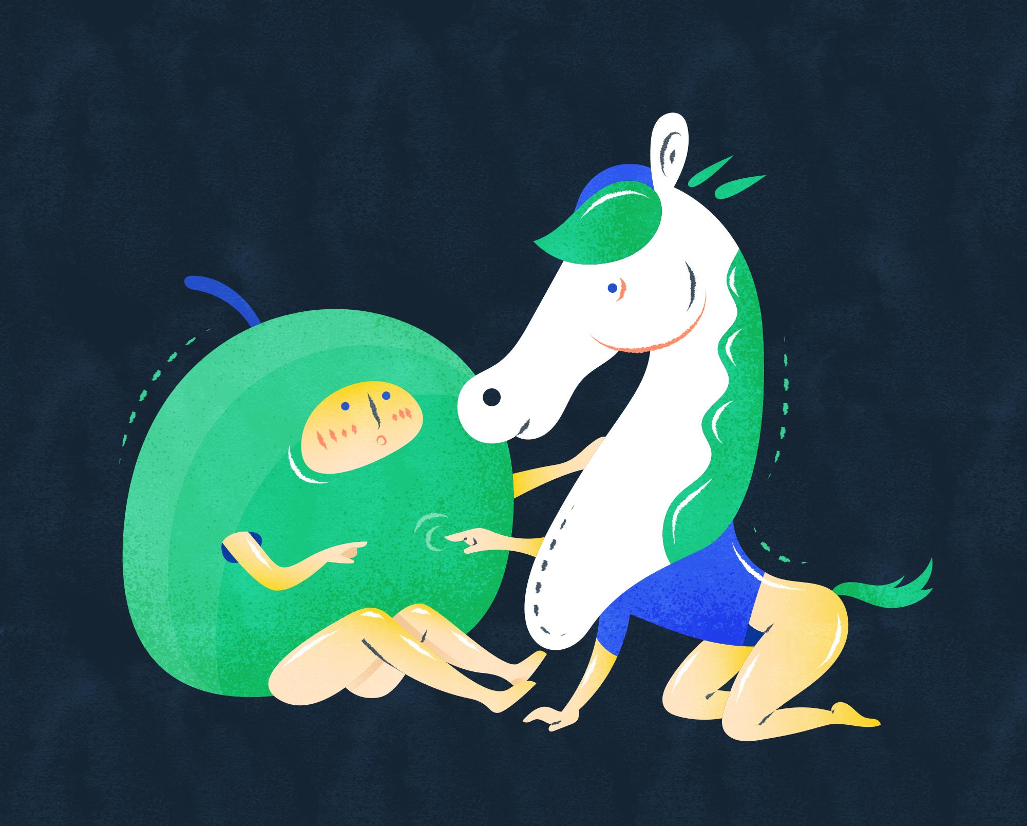 """青梅竹马 n. - """"Green plum and bamboo horse"""" - Intimate friendship formed in childhood.e.g. Growing up together, they are a couple of 青梅竹马."""