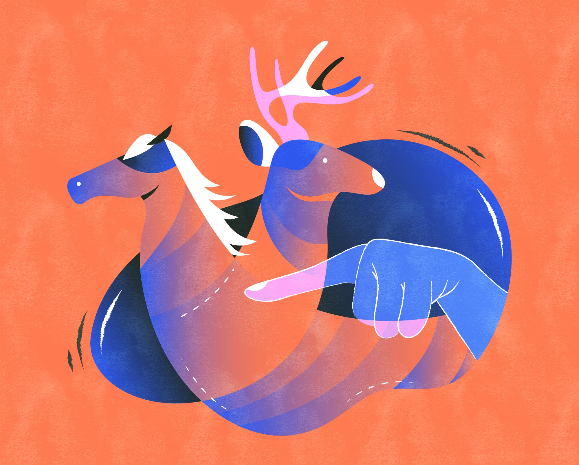 """指鹿为马 v. - """"Point to a deer, and call it a horse."""" - Deliberately distort the truth.e.g. Don't believe the decisions made by those who 指鹿为马."""