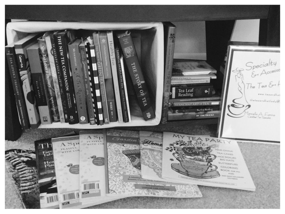 Yes, my tea book library does include the latest trend . . . Tea coloring books. There are outstanding tea coloring books available that allows and encourages creativity. Enjoy!