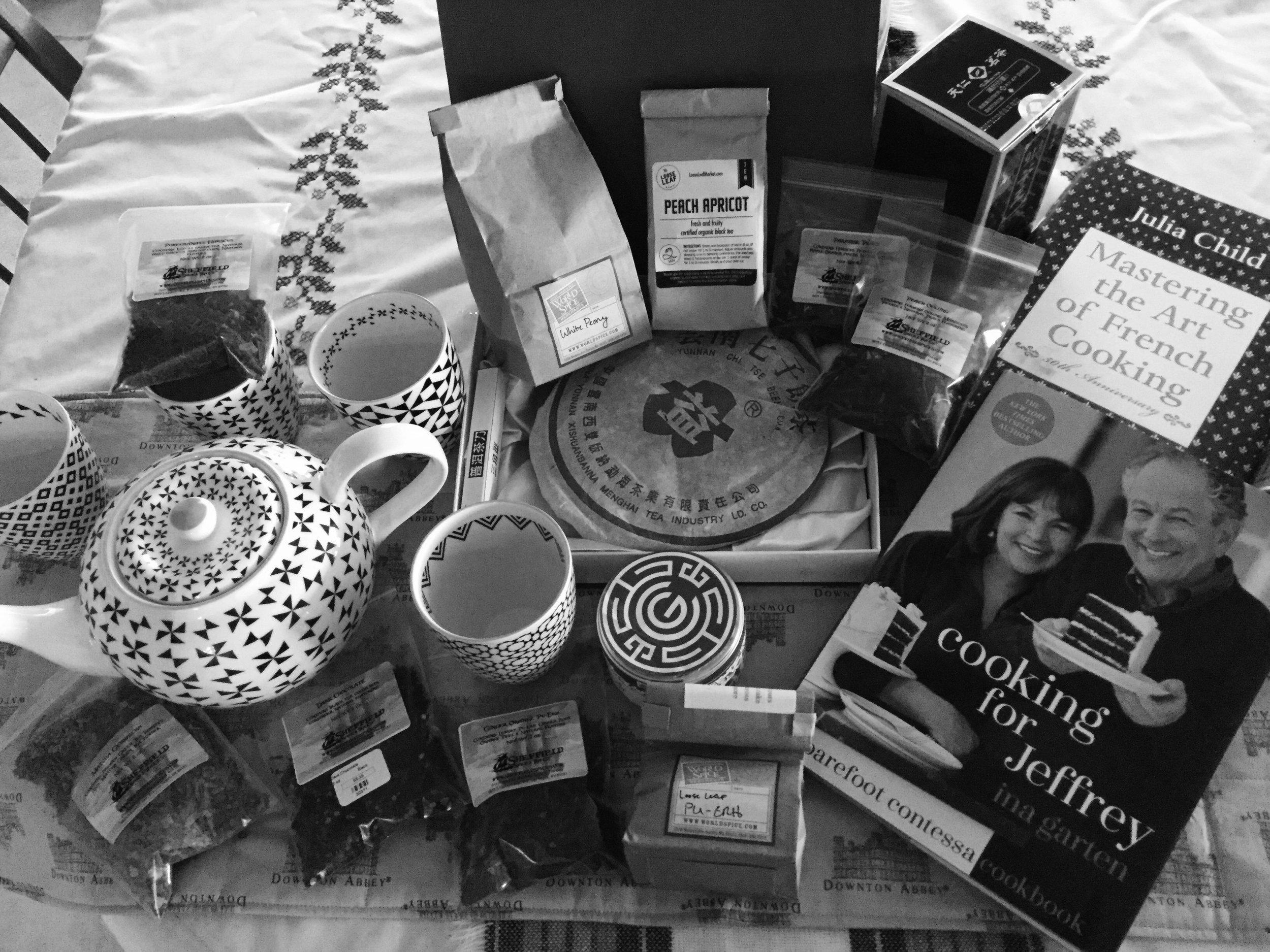 Tea, Tea, and more Tea everywhere. Tea and good books . . . What more could one want?