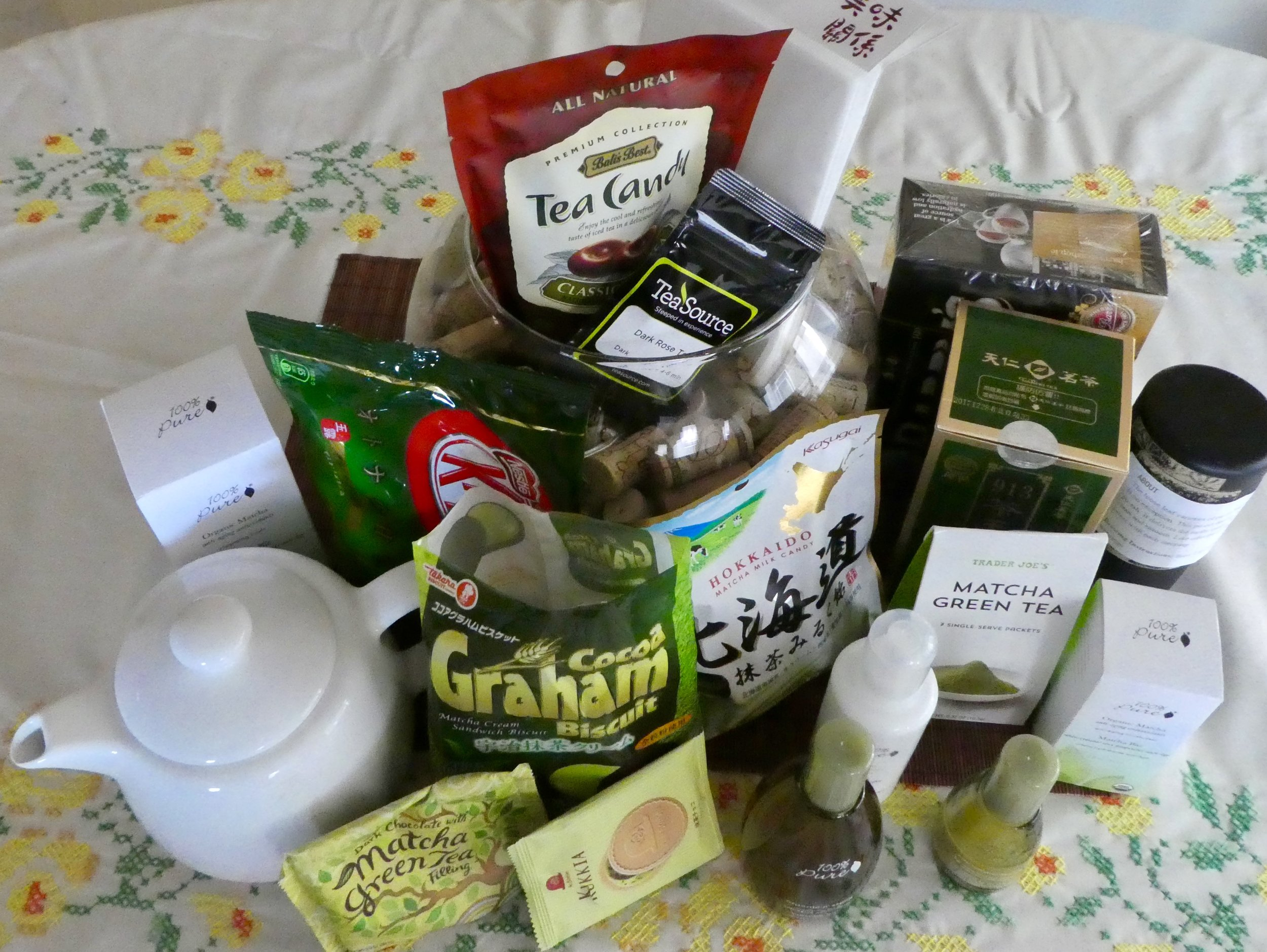 A collection of quickly gathered tea as an ingredient, infusion, or blend.